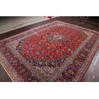 One-of-a-Kind Floral Kashan Traditional Persian Hand-Knotted 9'9