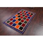 One-of-a-Kind Traditional Gabbeh Shiraz Persian Hand-Knotted 3'5
