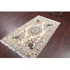 One-of-a-Kind Pence Floral Nain Isfahan Classical Persian Hand-Knotted 3'5