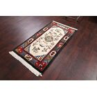 One-of-a-Kind Linnea Nepal Indian Oriental Hand-Knotted Wool Beige/Ivory Area Rug