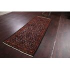 One-of-a-Kind Vintage Herati Tabriz Traditional Persian Hand-Knotted 3'7