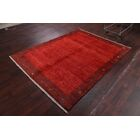 One-of-a-Kind Shiraz Persian Gabbeh Traditional Hand-Knotted 5'7