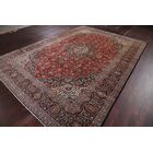 One-of-a-Kind Floral Kashan Persian Hand-Knotted 9'2
