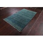 One-of-a-Kind Classical Shiraz Persian Gabbeh Hand-Knotted 4'8