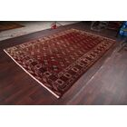 One-of-a-Kind Balouch Turkoman Vintage Persian Traditional Hand-Knotted 8'4