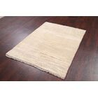 One-of-a-Kind Shiraz Gabbeh Persian Traditional Hand-Knotted 4' x 5'4
