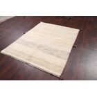 One-of-a-Kind Gabbeh Shiraz Persian Hand-Knotted 4'9