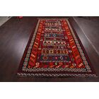 One-of-a-Kind Persons Kilim Kashkoli Traditional Persian Hand-Knotted 5'8