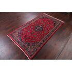 One-of-a-Kind Kashmar Vintage Persian Traditional Hand-Knotted 3'8