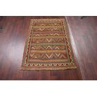 One-of-a-Kind Classical Kilim Shiraz Persian Hand-Knotted 3'6