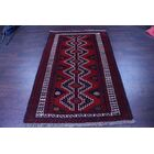 One-of-a-Kind Traditional Balouch Persian Hand-Knotted 4'3