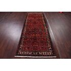 One-of-a-Kind Garden Floral Hamedan Persian Vintage Hand-Knotted 3'8
