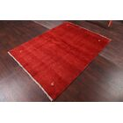 One-of-a-Kind Zolanvari Shiraz Genuine Gabbeh Persian Hand-Knotted 5' x 6'6