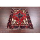 One-of-a-Kind Hamedan Persian Hand-Knotted 3'10
