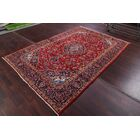 One-of-a-Kind Menomonie Medallion Floral Kashan Persian Hand-Knotted 6'4