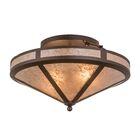 Yearby 2-Light Semi Flush Mount Size: 12