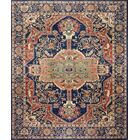 One-of-a-Kind Miliano Hand-Knotted Wool Red/Blue Area Rug