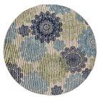 Keeble Beautiful Green Indoor/Outdoor Area Rug Rug Size: Round 6'6