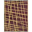 One-of-a-Kind Weranna Hand-Knotted Wool Purple/Gold Area Rug