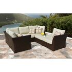 Doumbia 6 Piece Rattan Sectional Set with Cushions