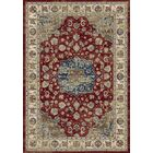 Attell Red/Ivory Area Rug Rug Size: Rectangle 5'3