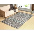 Parkison Hand-Tufted Gray/Blue Indoor/Outdoor Use Area Rug Rug Size: Rectangle 8' x 11'