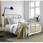 Jacinta Metal Panel Bed Color: Distressed Ivory, Size: Twin