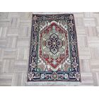 One-of-a-Kind Elford Serapi Hand-Knotted Wool Rust Red/Navy Area Rug