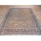 One-of-a-Kind Edinburgh Fine Agra Hand-Knotted Wool Brown Area Rug