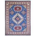 One-of-a-Kind Abbotsford Hand-Knotted Wool Blue Area Rug
