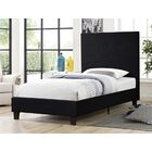 Millerton�Upholstered Platform Bed Color: Black, Size: Twin