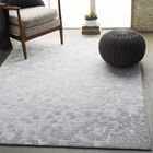 Shenk Abstract Light Gray/White Area Rug Rug Size: Rectangle 5'3
