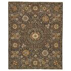 Kondo Hand-Knotted Wool Charcoal Area Rug Rug Size: Rectangle 8'6