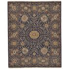 Kondo Hand-Knotted Wool Navy Area Rug Rug Size: Rectangle 7'9