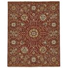 Kondo Hand-Knotted Wool Red Area Rug Rug Size: Rectangle 5'6
