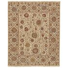 Kondo Hand-Knotted Wool Beige Area Rug Rug Size: Rectangle 5'6