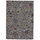 Reger Hand-Tufted Wool Charcoal/Black Area Rug Rug Size: Rectangle 9'6