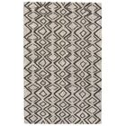 Grider Hand-Tufted Wool Charcoal/Taupe Area Rug Rug Size: Rectangle 5' x 8'