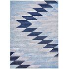 Ewers Gray/Light Blue Area Rug Rug Size: Rectangle 5'2