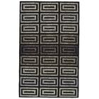 Kobayashi Gray/Black Area Rug Rug Size: Rectangle 8' x 10'