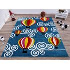 Kindig Hot Air Balloon Blue/Red Area Rug Rug Size: Rectangle 5'3