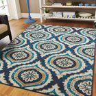 Gottesdiener Blue Indoor/Outdoor Area Rug Rug Size: Rectangle 8' x 11'