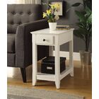 Krohn End Table with Storage Color: White