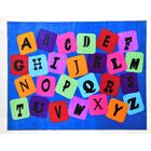 Kimpel Alpha Jumble Children's Educational and Play Blue Area Rug