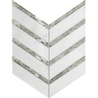 Intrigue Random Sized Mixed Material Mosaic Tile in White