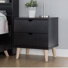 Grote 2 Drawer Nightstand Color: Cappuccino
