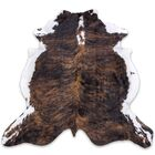 One-of-a-Kind Ponce Handmade Cowhide Brown Area Rug