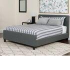 Konen Tufted Upholstered Platform Bed Color: Dark Gray, Size: Twin