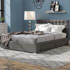 Myrrine Upholstered Storage Platform Bed Color: Grey, Size: Queen
