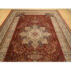 Shanelle Living Room Hand-Knotted Silk Red Area Rug Rug Size: Rectangle 5' x 8'